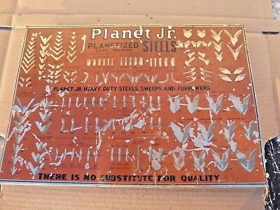 Early Planet Jr. Planetized Steels Sweeps Furrowers Plow Advertising Sign ! ! !