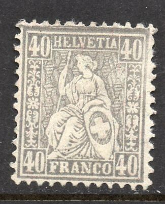 Switzerland SC # 66  MH - Seated Helvetia - no gum