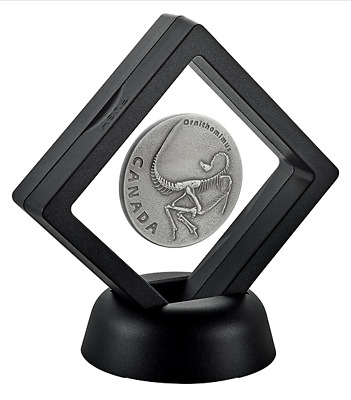 2017 1 oz. Pure Silver Coin - Ancient Canada: Ornithomimus - Mintage: 5,500