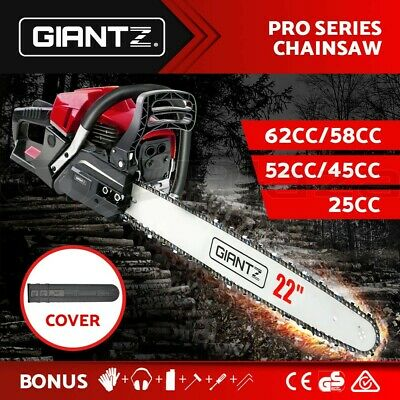 GIANTZ Petrol Commercial Chainsaw Chain Saw Bar E-Start Pruning 62CC 58CC 25CC
