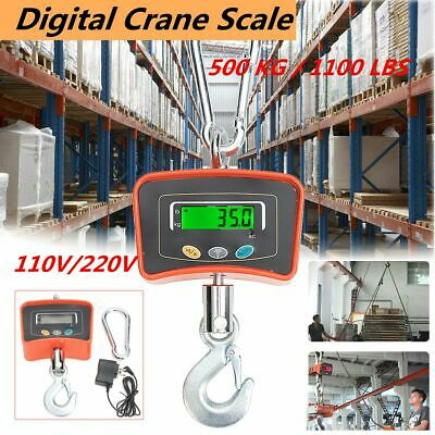 Digital Crane Scale 500 KG / 1100 LBS Heavy Duty Industrial Hanging Scale
