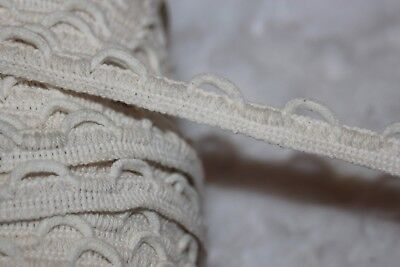 """2.3 yards off white non stretch Lacing Lace Up Loop BRAID trim 5/8"""" cotton u268"""