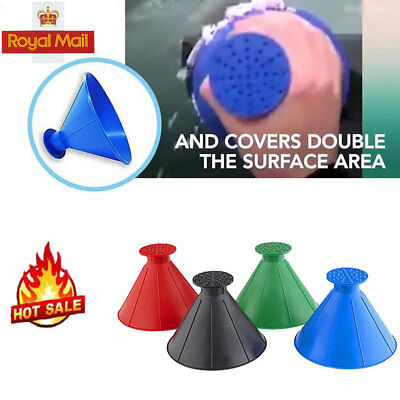UK Car Windshield Magic Ice Scraper Tool Cone Shaped Funnel Remover Snow Outdoor
