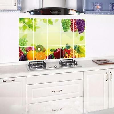 Fruits Kitchen Waterproof Sticker Bathroom Tile For Wall Sticker Home Decor DP