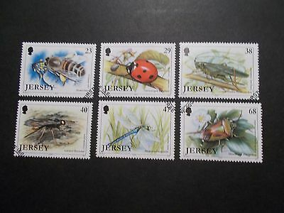 GB Jersey 2002 Commemorative Stamps~Insects~Very Fine Used Set~UK Seller
