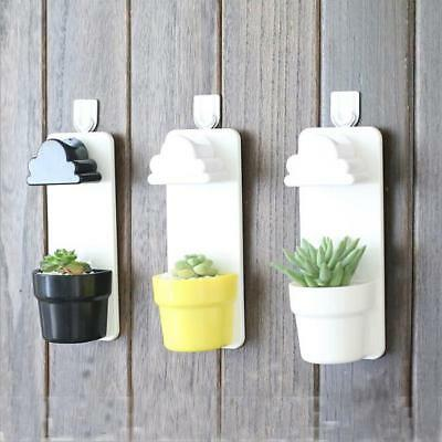 Rainy Flower Pot Hanging Wall Mount Planters With Cloud Shower Watering DP