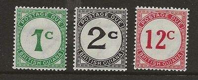 British Guiana  Sg D1/D2 & D4  1940 Set Of 3  Postage Dues  Fine Mounted Mint