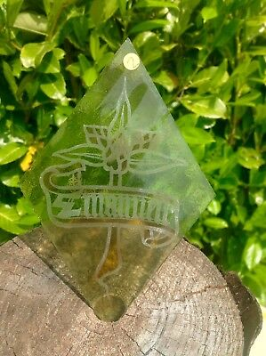 A Victorian Stained And Hand Made Glass Religious Quarry From A Church Window