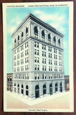 FAIRMONT, WEST VIRGINIA: Watson Building, Street Corner View, 1948 pmk