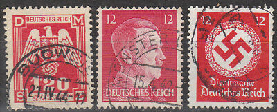 Stamp Selection Germany WWII 3rd Reich Hitler  Era Official Bohemia Used