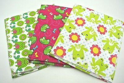 Baby Blankets Frogs Butterflies Polka Dots Set of 3 Can Be Personalized 36x40