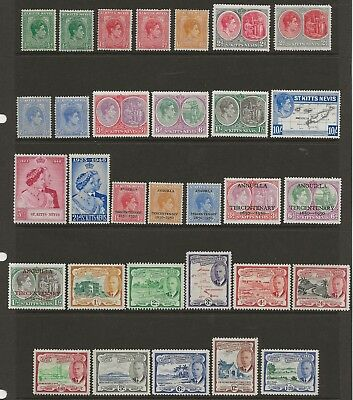 St Kitts - Nevis  Mint Collection Of Gvi Btween Sg 68 & Sg 105  Mounted  Fine