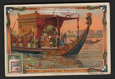 Ancient Egypt Royal Barge On The Nile River 1903 Trade Ad Card
