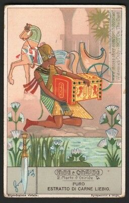 Ancient Egyptian Godsess Isis Egypt Myth  80+ Y/O Trade Ad Card s