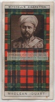 Maclean Family Clan Celtic Tartan Pattern Scotland Kilt c90 Y/O Trade Ad Card