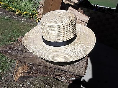 e3adc414968f0 BRAND NEW GENUINE Pennsylvania AMISH HAND MADE STRAW HAT MEN S SIZE 7 1 2  inch