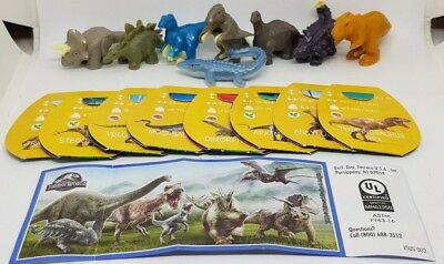 Kinder 2018, Jurassic World, USA, SE753-SE768, compl. set with all Bpz.