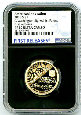 2018 S Washington Patent Proof Ngc Pf70 American Innovation Dollar First Release