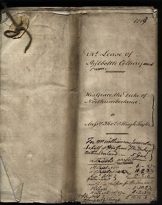 1818 Original Draft lease to SHILBOTTLE COLLIERY from Duke of Northumberland