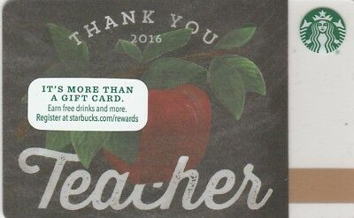 Carte Cadeau  Gift Card- Starbucks   Teacher  (Usa) 6119  2016