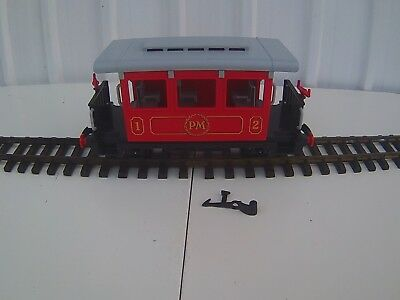 1 x Playmobil R/C  oder Trafo Bahn  Roter Personenwagen