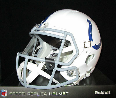 INDIANAPOLIS COLTS Full Size SPEED REPLICA Helmet - With VISOR