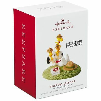 Hallmark Keepsake 2018 First Aid Lessons The Peanuts Gang Snoopy Free Shipping