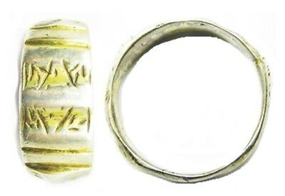 Silver Gilt Iconographic Finger Ring 'Reformation' Type 16th century A.D. Size 9