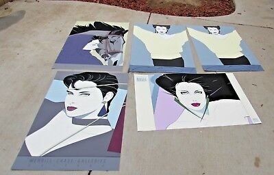 "PATRICK NAGEL Group of 5 Mirage Editions 24"" x 36"" Commemorative Serigraphs"