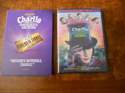 Tim Burton Charlie And The Chocolate Factory (DVD, 2017) Johnny Depp