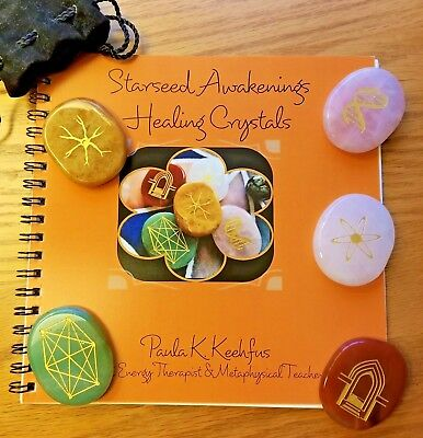 STARSEED AWAKENINGS HEALING CRYSTALS w/ Instruction  Book~Enlightenment~Ascension