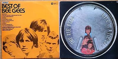 ♫  rare BEE GEES albums - both on SPIN Label vinyl in excellent condition ♫