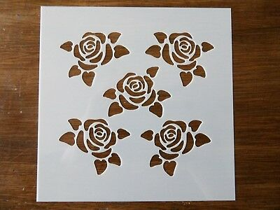 ROSE FLOWER STENCIL 130mm x 130mm