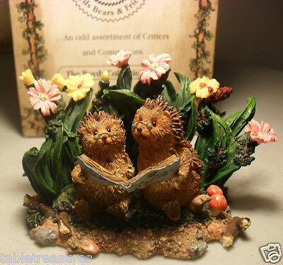 BOYDS Hedgehog Figurine TICKLES and PRICKLES~MINT in BOX from our shop ~cute