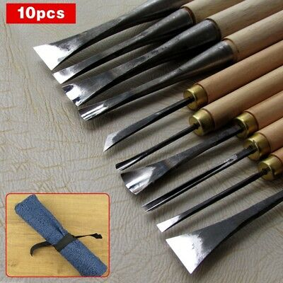 10pcs/lot Hand Wood Carving Knives General Details Root Chisel Made By Hand Neu