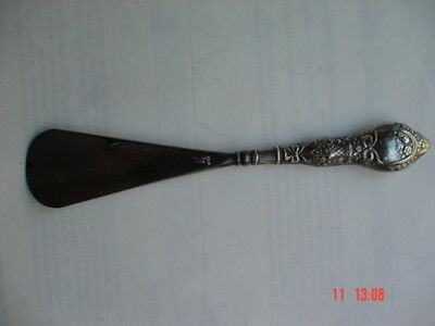 Antique silver & steel shoe horn (Hallmarked 1912)  180 mm long
