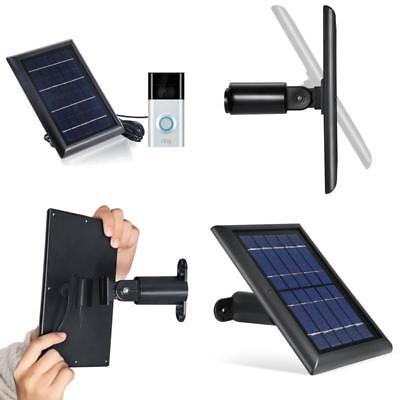 Solar Panel For Ring Video Doorbell Camera Charging Device Adapter Weatherproof