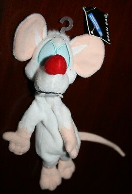 """With Tag Animaniacs Pinky and the Brain Bean Bag Plush Warner Brothers Store 9"""""""