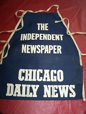 Vintage Chicago Daily News Coin Apron Canvas Corner Newstand Paperboy