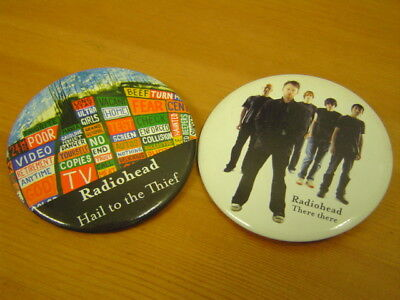 RADIOHEAD HAIL TO THE THIEF THREE HERE KOREA 2 BUTTON BADGE 73mm