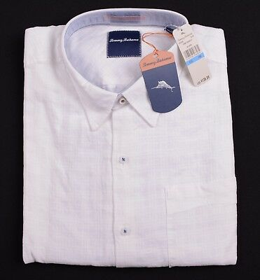 NEW $128 Tommy Bahama T312826 SURF TO SYDNEY Blue Checked Long Sleeve Shirt NWT