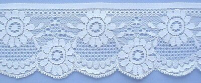 60mm White Cotton Lace (x 2 metres) #2