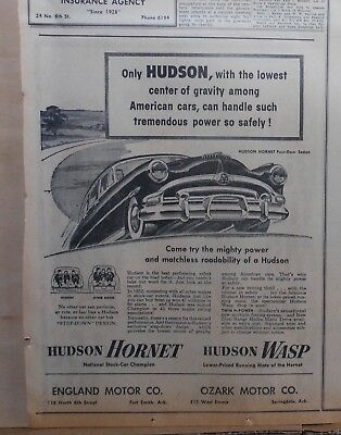 1953 newspaper ad for Hudson - Hornet Sedan, Try Mighty Power, Roadability