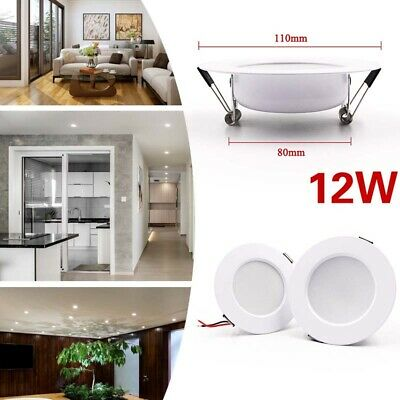 LED Panel Downlight Recessed Ceiling Light Spotlight Home Night Lamp 5W-15W