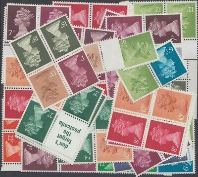 Great Britain Low Value Definitive Stamps for Postage