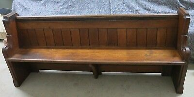 A Small 19th Century Oak Church Pew