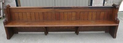 A Large 19th Century Oak Church Pew