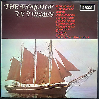 WORLD OF TV THEMES Soundtracks LP 1972 Onedin Forsyte Peyton Place Monty Python