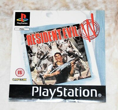 Original UK Resident Evil Game Front Inlay - White Label  PS1