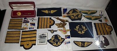 Lot Insigne Pins Pin Badge Tissu Aviation Aerien Avion Air France Uta ? Afrique